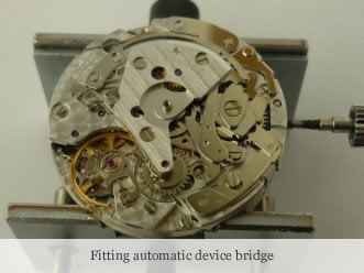 <p>&nbsp;Fitting automatic device bridge</p>